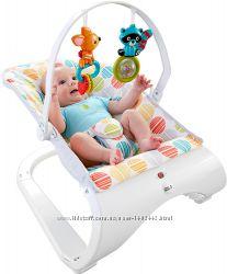 Детское массажное кресло-качалка шезлонг Fisher-Price Первые друзья Comfor