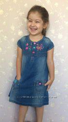 Джинсовое платье сарафан LC WAIKIKI 2-5 лет