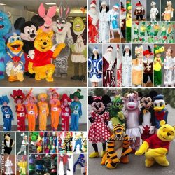 Дед мороз, костюмы аниматорам, куклы ростовые, борода, парик, снегурочка, маски
