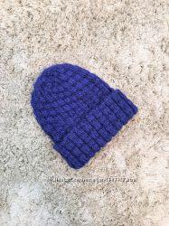 Шапка с отворотом синяя H&M