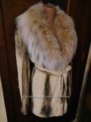 Роскошная норковая шуба полушубок . натуральный мех . норка рысь .