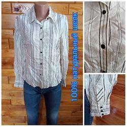Ann Taylor . 100 натуральный шелк . шелковая блузка рубашка сорочка