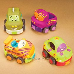 Игровой набор  Забавный  автопарк 4 резиновые машинки-погремушки