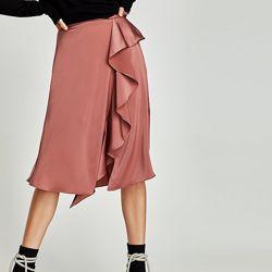 Юбка Zara Зара новая миди ассиметричная с разрезом размер M