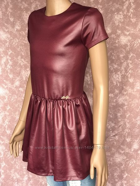 Блестящее платье LIU-JO металлика Италия оригинал девочке 9-11 лет