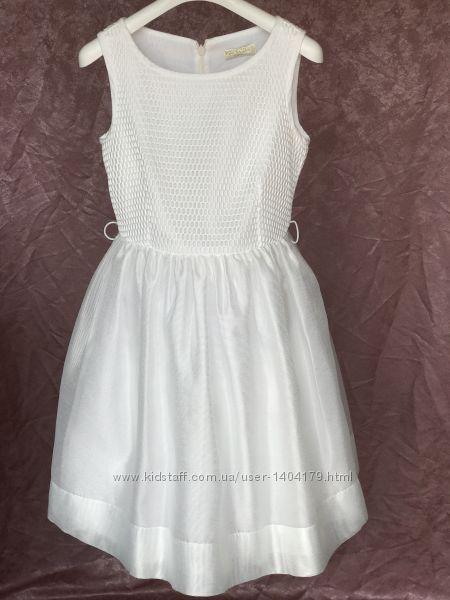 White праздничное нарядное платье с сеткой Monnalisa Италия оригинал 10 р