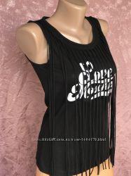 Black Гламурная блузка майка топ LOVE MOSCHINO оригинал