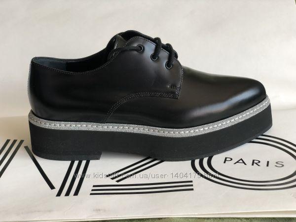 New кожаные туфли на толстой подошве ALEXANDER MCQUEEN Италия оригинал