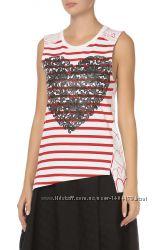 Яркая летняя хлопковая футболка майка топ Stella McCartney Италия оригинал