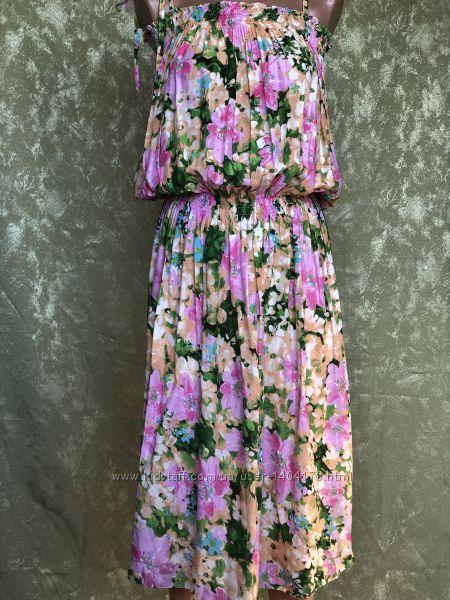 Яркое летнее платье сарафан в цветочный принт Kolotiy