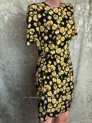 New Летнее шелковое шифоновое платье футляр LANVIN Франция оригинал