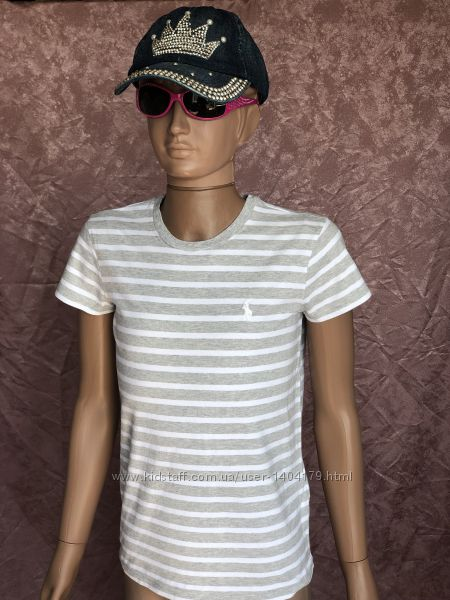 Grey поло футболка в полоску POLO RALPH LAUREN оригинал