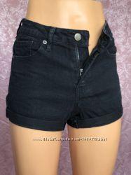 Черные женские джинсовые шорты FOREVER 21 с подарком