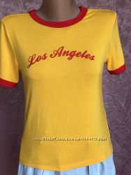 Yellow футболка Los Angeles FOREVER 21