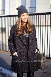 Черное пальто оверсайз Selected, ххл-хххл, шерсть, котон, состояние нового