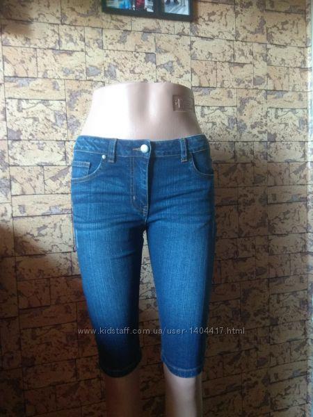 джинсовые бриджи, шорты - размер М