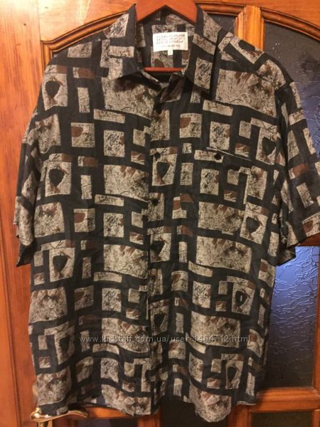Шелковая фирменная рубашка
