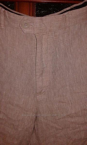 Marks&spencer фирменные штаны из льна.
