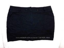 Черная короткая юбка из 100 хлопка dorothy perkins