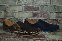 Мужские мокасины туфли натуральная замша в 2-х цветах