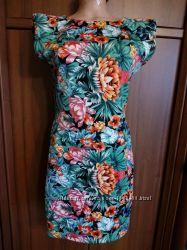 AX Paris платье 46 размер с цветочным принтом сукня 46 р плаття 46 р
