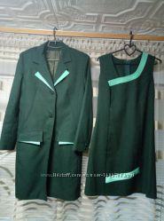 Женский костюм  платье  пиджак, р. 44-46  смотрите замеры