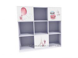 Етажерка для дитячої кімнати з ніжними та цікавими зображеннями