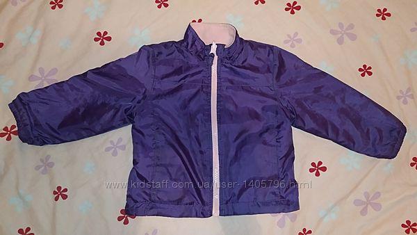 Ветровка курточка на флисе Faded Glory куртка плащевка двухсторонняя