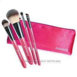 Набор кисточек для макияжа в косметичке farmasi-фармаси