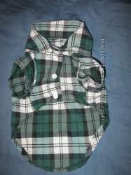 Новая рубашка в клеточкуковбойка для маленькой собачки