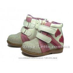 Ботинки полусапожки демисезонные  Шалунишка для девочки размер 23.