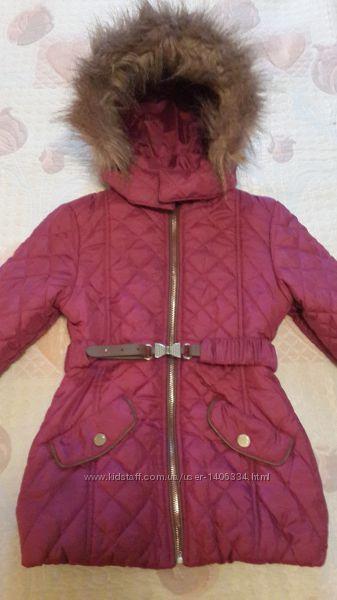 Удлинённая куртка Mayoral Испания для девочки 4 года, 104 см.