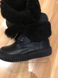 Зимние кожаные сапоги, ботинки Kids feet для мальчика, размер 26