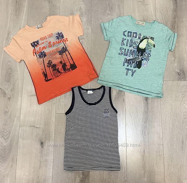 Набор 3 шт комплект футболка Zara майка Original Marines на 4-5 лет