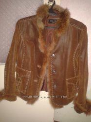 Куртка кожаная р. 46