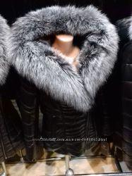 АкцияРоскошная куртка из натуральной кожи с мехом чернобурки
