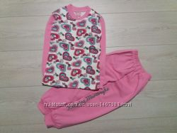 Пижама для девочек Сердце, размеры 5, 7 лет. Турция.