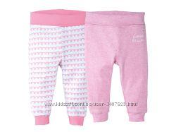 Набор 2 шт трикотажные штанишки на девочку р. 74, 80 Lupilu Германия