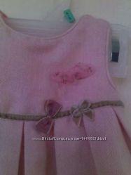 Красивое теплое платье сарафан ZARA 60-66 см на девочку 3-6 мес