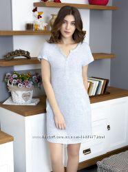 Женское домашнее платье ночная сорочка хлопок 48-50р тм роксана