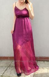 Стильное длинное платье в бельевом стиле H&M