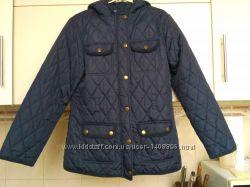 Куртка курточка стеганная синяя ветровка