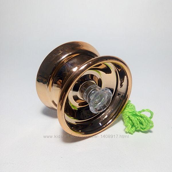 Йо-йо металлическое с подшипником цвет-золото