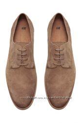 Швеция, H&M, PREMIUM QUALITY, Suede Derby shoes - туфли