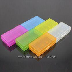 Коробка, бокс, футляр, кейс, для аккумуляторов 18650 6 цветов