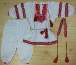 Костюм для девочки с вышивкой 62-74