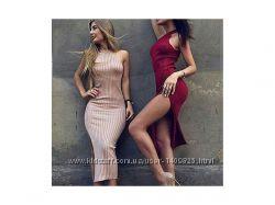Платье мелкая лапша без рукавов