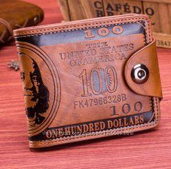 Мужское портмоне 100 Dollars  кошелек бумажник гаманець