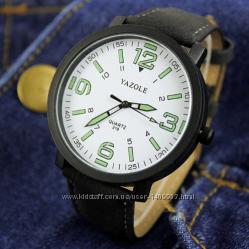 Мужские кварцевые часы YAZOLE neon