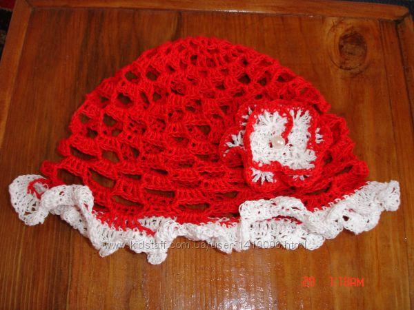 летняя шапочка для девочки вязаная крючком
